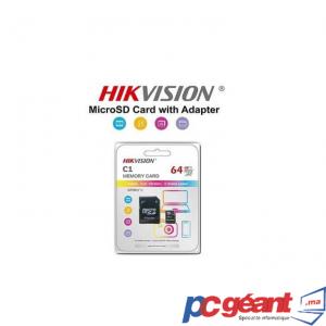 HIKVISION C1 64Go MICRO SD CLASS 10 AVEC ADAPTATEUR SD
